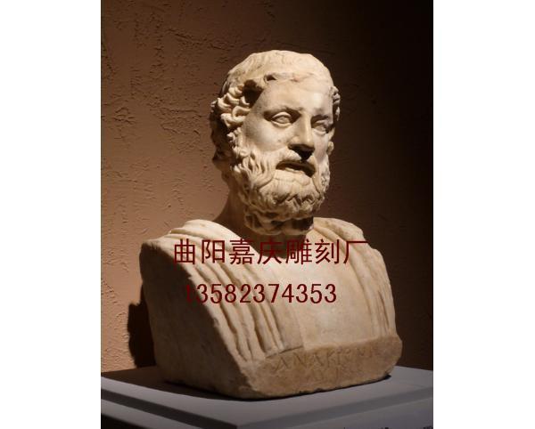 胸像石雕_武士胸像(图片)